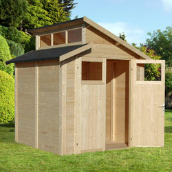 Rowlinson Rowlinson Skylight Shed Unpainted Natural 7' x 7' - 74512 - from Toolstation