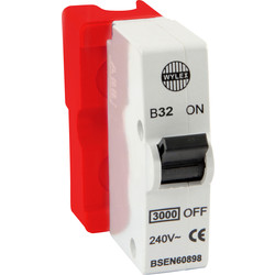Wylex Wylex Plug in Breaker B Type 32A Red - 74518 - from Toolstation