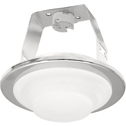 IP44 Low Voltage Frosted Showerlight Brass - 74552 - from Toolstation