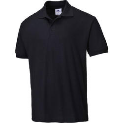 Womens Polo Shirt Small Black