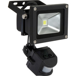 Meridian Lighting LED PIR Floodlight 10W PIR 820lm - 74613 - from Toolstation