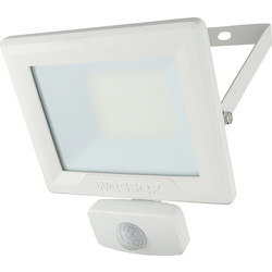 Wessex Electrical Wessex LED PIR Floodlight IP65 30W 2400lm White - 74626 - from Toolstation