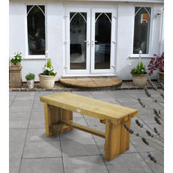 Forest Forest Garden Double Sleeper Bench 45cm (h) x 120cm (w) x 35cm (d) - 74654 - from Toolstation