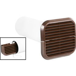Xpelair Xpelair Simply Silent Extractor Fan Wall Kit 100mm Brown Square - 74698 - from Toolstation