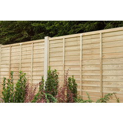 Forest Garden Pressure Treated Superlap Fence Panel - 4 Pack 183cm(h)x183cm(w)