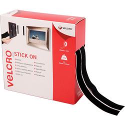 Velcro Velcro Stick On Tape Black 20mm x 10m - 74874 - from Toolstation