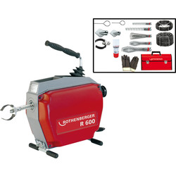 Rothenberger Rothenberger 110V Drain Cleaning Kit & Spiral Kit 16mm & 22mm - 74881 - from Toolstation