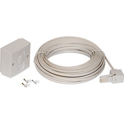 Telephone Extension Kit 15m - 74942 - from Toolstation