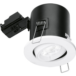 Enlite Enlite Adjustable Fire Rated GU10 Downlight EN-FD102W White - 74975 - from Toolstation