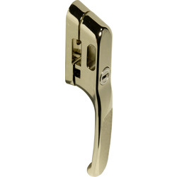 Timber Window Locking Casement Fastener Gold Effect