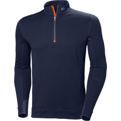 Helly Hansen Helly Hansen Lifa Merino Half Zip Mid-Layer Large Navy - 75041 - from Toolstation