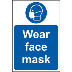 Centurion 'Wear Face Mask' Wall Sign Rigid PVC - 75056 - from Toolstation