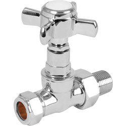 Unbranded Traditional Towel Radiator Valve Straight - 75061 - from Toolstation
