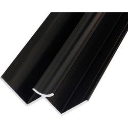 Mermaid Mermaid Laminate Shower Wall Panel Trims Black Internal Corner - 75110 - from Toolstation