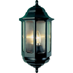 ASD ASD Half Lantern IP44 Polycarbonate 60W BC Black - 75244 - from Toolstation
