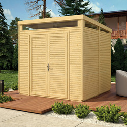 Rowlinson Rowlinson Pent Security Shed Unpainted Natural - 75253 - from Toolstation