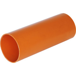 Aquaflow Underground Pipe 110mm 6m (2 x 3m) - 75373 - from Toolstation