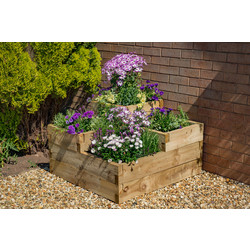 Forest Forest Garden Caledonian Tiered Raised Bed 56cm (h) x 90cm (w) x 90cm (d) - 75375 - from Toolstation