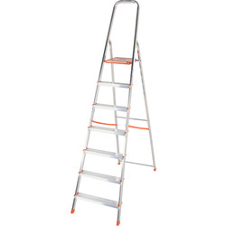TB Davies TB Davies Light Duty Platform Step Ladder 7 Tread SWH 3.1m - 75440 - from Toolstation