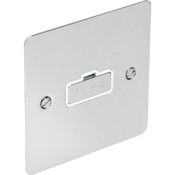Flat Plate Polished Chrome Fused Spur 13A Unswitched - 75470 - from Toolstation