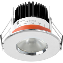 D-Lux LED D-Lux LED IP65 4.65W Fire Rated Downlight Chrome 477lm - 75483 - from Toolstation