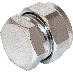 Compression Stop End Chrome Plated 15mm - 75529 - from Toolstation