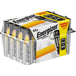 Energizer Energizer Alkaline Power AA E91 Value home pack 24 AA - 75543 - from Toolstation