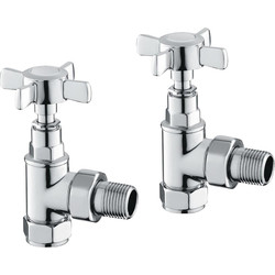 Reina Bronte Traditional Chrome Valve Angled - 75551 - from Toolstation