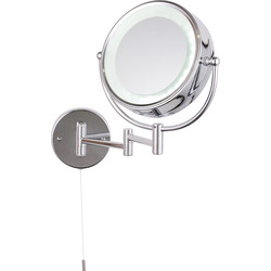 Apus LED Round IP44 Magnifying Mirror Double Sided