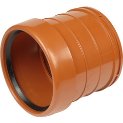 Aquaflow Pipe Coupling Socket 110mm Single - 75782 - from Toolstation