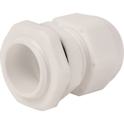 IMO Stag IMO Stag IP68 Cable Gland 20mm White - 75783 - from Toolstation