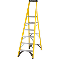 Werner Werner Fibreglass Platform Step Ladder 6 Tread SWH 3.15m - 75980 - from Toolstation