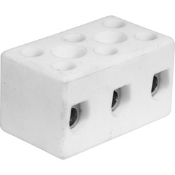 Unbranded Porcelain Connector 15A 2 Way - 76007 - from Toolstation