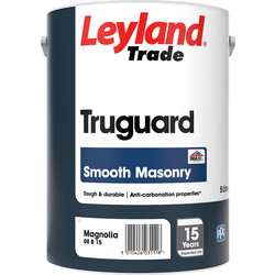 Leyland Trade Leyland Trade Truguard Smooth Masonry Paint 5L Magnolia - 76025 - from Toolstation
