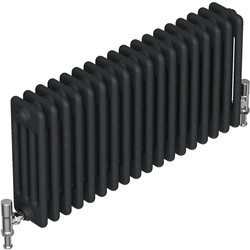 Tesni Oza 4 Column Horizontal Designer Radiator 600 x 1012mm 6087Btu Matt Charcoal