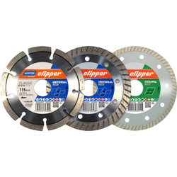 Norton Norton Clipper Diamond Blade Triple Pack 115mm - 76039 - from Toolstation