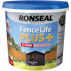 Ronseal Ronseal Fence Life Plus 5L Tudor Black Oak - 76057 - from Toolstation