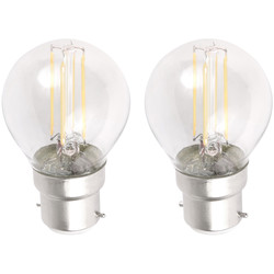 Meridian Lighting LED Filament Globe Lamp 4W SBC (B15d) 460lm - 76086 - from Toolstation