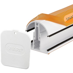 Snapa Snapa White PVC Glazing Bar for Axiome Sheets 2000mm - 76101 - from Toolstation