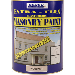 Bedec Bedec Extra-Flex Elastomeric Masonry Paint Woodash 5L - 76125 - from Toolstation