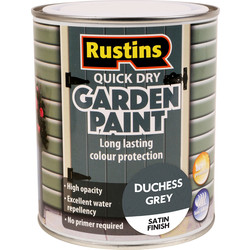 Quick Dry Garden Paint Duchess Grey 750ml