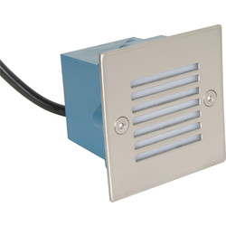 LED 0.8W Square Wall Light 230V IP54 Blue - 76255 - from Toolstation