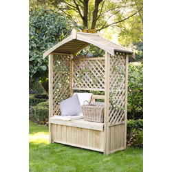 Forest Forest Garden Lyon Arbour 200cm (h) x 156cm (w) x 67cm (d) - 76275 - from Toolstation