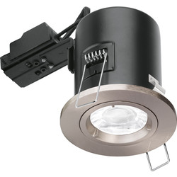 Enlite Enlite Fixed Fire Rated GU10 Downlight EN-FD101SN Satin Nickel - 76299 - from Toolstation