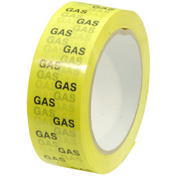 Gas Pipeline Identification Tape 38mm x 66m - 76304 - from Toolstation