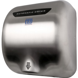 Automatic Hand Dryer Brushed Chrome 1800W - 76322 - from Toolstation