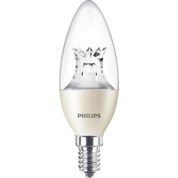 Philips Philips LED Warm Glow Dimmable Candle Lamp 4W SES (E14) 250lm - 76356 - from Toolstation