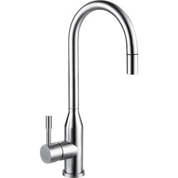 Franke Franke Montreux Pull Out Mono Mixer Kitchen Tap Stainless Steel - 76402 - from Toolstation