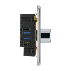 BG Screwless Flat Plate Polished Chrome Dimmer Switch