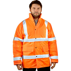 High Vis Highway Jacket Orange Medium